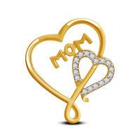 MOM & Heart Diamond Pendant- AMPS0326P, si - ijk, 18 kt