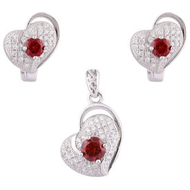In Love Silver Pendant Set-PDS016