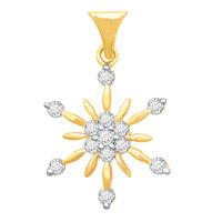 Arch Flower Diamond Pendant- BAPS231P, si - ijk, 18 kt