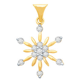 Arch Flower Diamond Pendant- BAPS231P