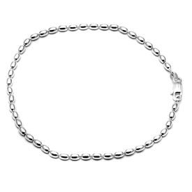 Pearls One Piece Silver Anklets-ANK1P001