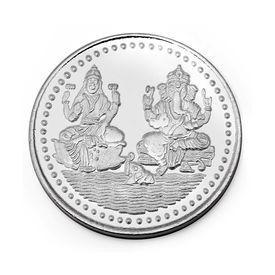 Manglam Laxmi Ganesh 10 Grams 999 Silver Coin-MJC01G10