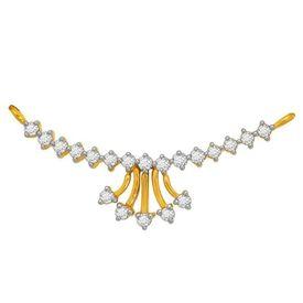 Plain Diamond Mangalsutra- BATS0199T
