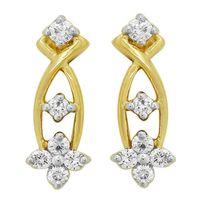 Classic Diamond Earrinngs- BATS0202ER, si - ijk, 14 kt