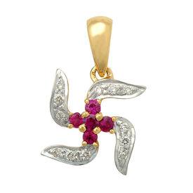 Swastik Diamond Pendant- AIP0133