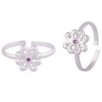 Butterfly Silver Toe Rings-TRMX107