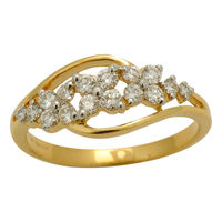 Classy Diamond Ring - BAR1924, si - ijk, 12, 18 kt