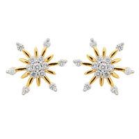 Arch Flower Diamond Studs- BAPS231ER, si - ijk, 18 kt