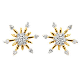 Arch Flower Diamond Studs- BAPS231ER
