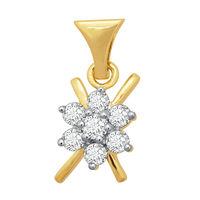 Glossy Diamond Pendant- BAP470, si - ijk, 14 kt