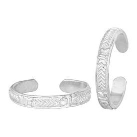 Plain Silver Toe Ring-TRRD036