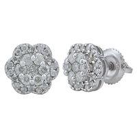 Diamond Blossom Lil Studs- AMER0576A, si - ijk, 18 kt