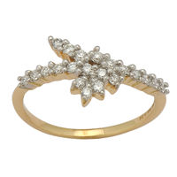 Nice Diamond Ring - BAR2026SJA, si - ijk, 12, 14 kt