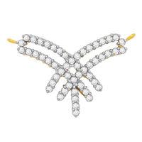 Criss Cross Diamond Mangalsutra- BATS116T, si - ijk, 14 kt