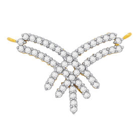 Criss Cross Diamond Mangalsutra- BATS116T