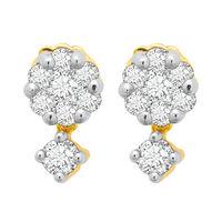 Sway Bloom Diamond Earrings- BAPS227ER, si - ijk, 18 kt