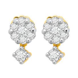 Sway Bloom Diamond Earrings- BAPS227ER