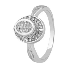 Marvellous White Zircon Ring-FRL130