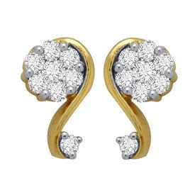 Curve Diamond Earrings- GUTS0051ER