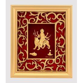 Godess Durga Maa Golden Frame-GF002