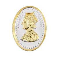 Queen Victoria Gold Polish Oval 10 Grams 999 Silver Coin-CGP2G10