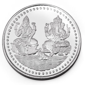 Manglam Laxmi Ganesh 10 Grams 999 Silver Coin With Branded Packing-MJC01G10P