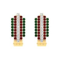 Stone Diamond Earrings-RBL0046, si-gh, 18 kt