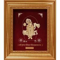 Shri Nath Ji Golden Frame-GF012