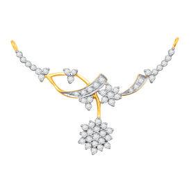 Flower Diamond Mangalsutra- BATS58T