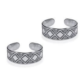 Geomatric Square Silver Toe Ring-TR453