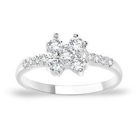 Magnetic White CZ Silver Finger Ring-FRL056