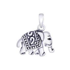Gleam Elephant Silver Pendant-PD136
