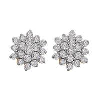 Flower Diamond Studs- BATS33ER, si - ijk, 18 kt