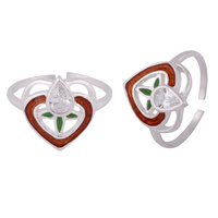 Full Heart Silver Toe Rings-TRMX099