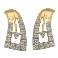 Geomatric Diamond Earrings- BAPS1955ER, si - ijk, 18 kt