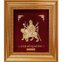 Godess Durga Mata Golden Frame-GF013