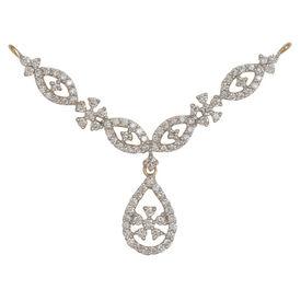 Pear Drop Diamond Mangalsutra- GUTS0112T