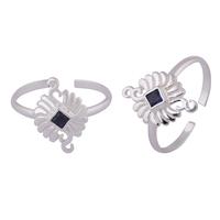 Rangoli Blue Silver Toe Rings-TRMX097