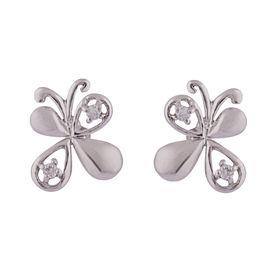 CZ Butterflies Silver Studs-ER074