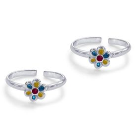 Enamel Floral Toe Ring-TR462