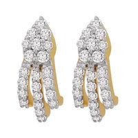 Linear Diamond Earrings- BAER0831, si - ijk, 14 kt