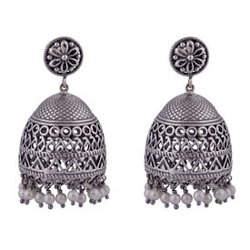 Oxidsed Ghungroo Jhumkaa Earrings-ER076