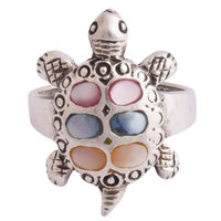 Colorful Life Turtle Ring-FRL183, 11