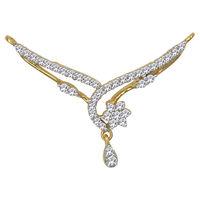Curved Flow Diamond Mangalsutra- GUTS0134TCG, si - ijk, 18 kt