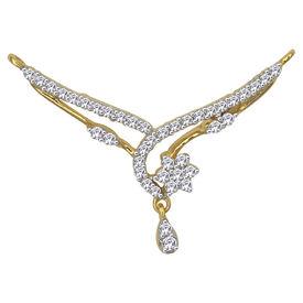 Curved Flow Diamond Mangalsutra- GUTS0134TCG