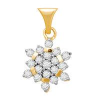 Blossom Diamond Pendants- BAP421, si - ijk, 14 kt