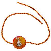 Ganesha Blessing Silver Rakhi-RK002