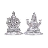 Silver Laxmi Ganesh Idols-RILG006