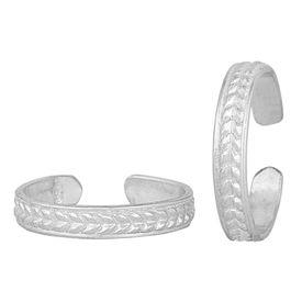 Fine Silver Toe Ring-TRRD048
