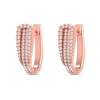 Root Diamond Bali Earrings-RBL0067, si-jk, 18 kt